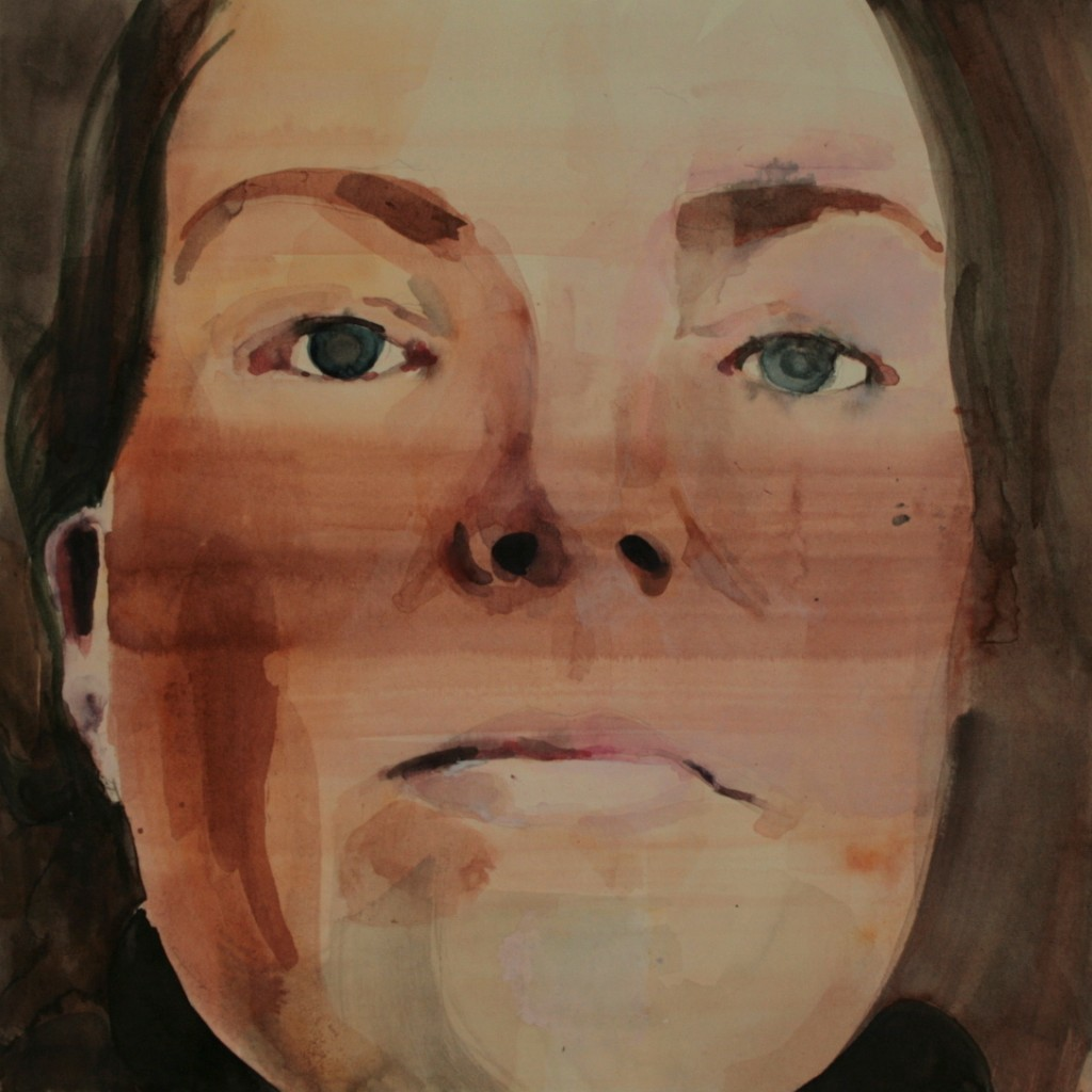 Portret met streep