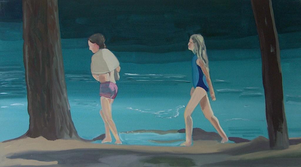 Meisjes aan het meer