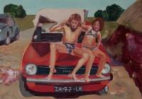 """""""Zalk 77""""  2007 Qouache op doek 20-30 cm"""