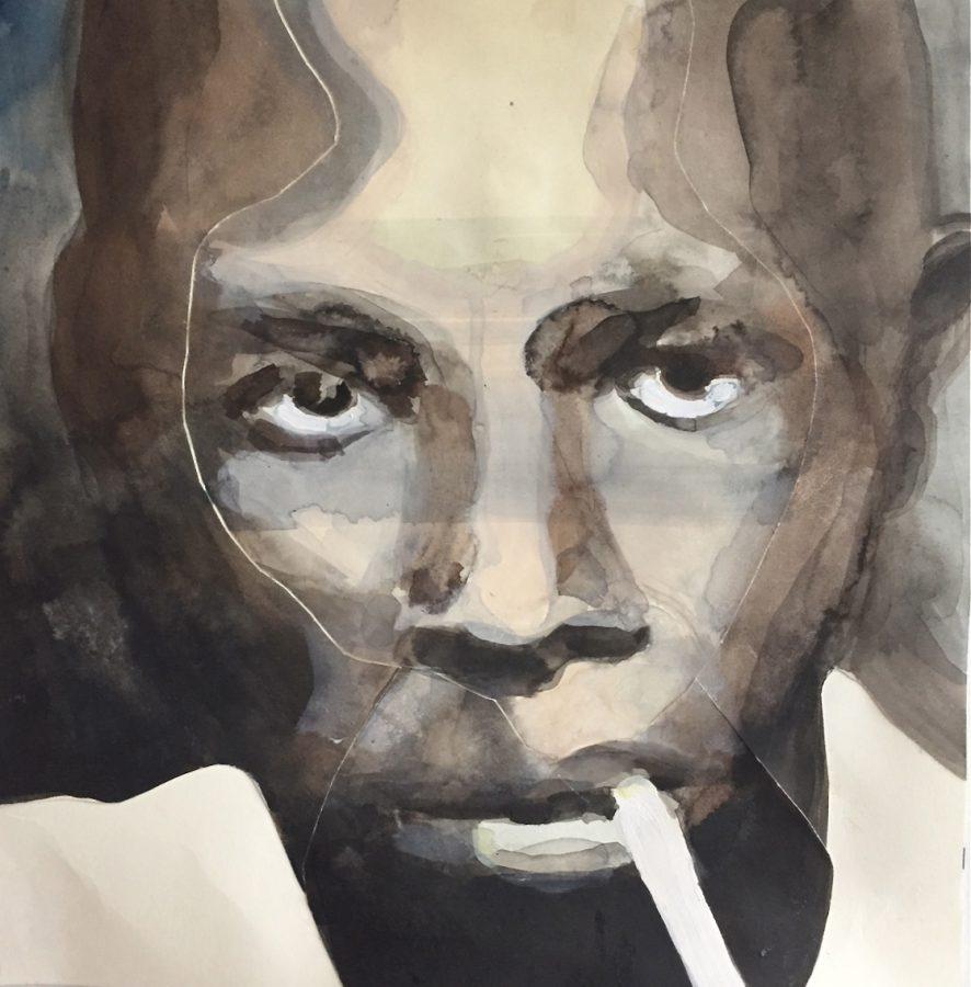 Musician, inkt op gesneden papier, 2015